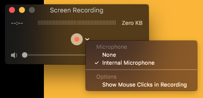 Select 'Internal Microphone'